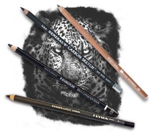 Pencils4artists 'Blacker than Black' Carbon Pencils Compare Set