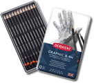 Derwent Graphic Pencils Tin of 12 Hard Grades