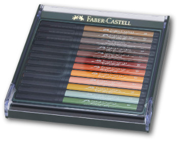 Faber Castell Pitt Artist Brush Pen - Set of 12 Autumn Colours
