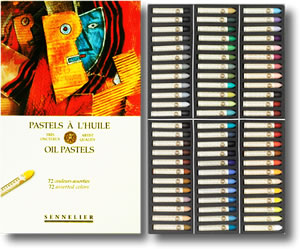 Sennelier Oil Pastels - Box 72 Assorted Colours