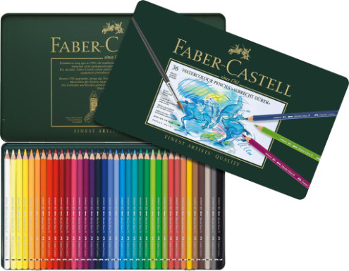 Faber Castell Albrecht Durer Watercolour Pencils Tin of 36