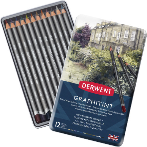 Derwent Graphitint Pencils Tin of 12