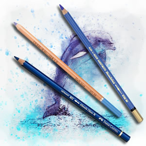 Pencils4artists Colour Compare Set of 12 Blues