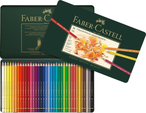 Faber Castell Polychromos Colour Pencils Tin 36