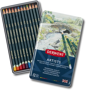 Derwent Artists Colour Pencils Tin of 12