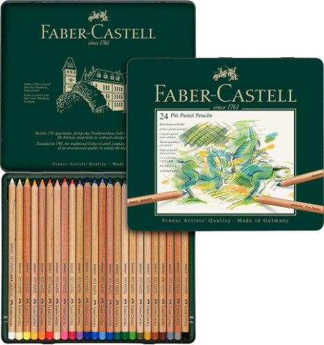 Faber Castell Pitt Pastel Pencils Tin of 24