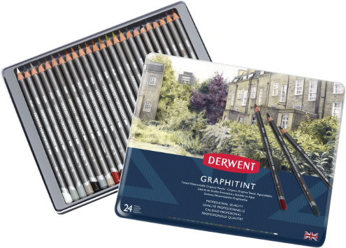 Derwent Graphitint Pencils Tin of 24