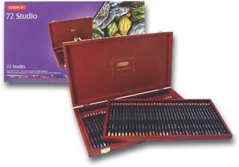 Derwent Studio Colour Pencil Wooden Presentation Box of 72
