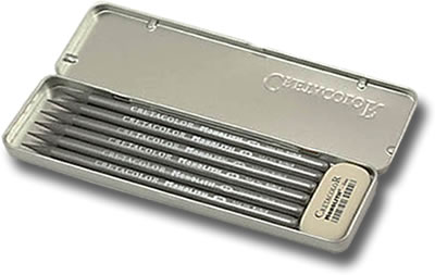 Cretacolor Monolith Graphite Pocket Tin of 6 + Eraser
