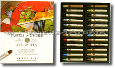 Sennelier Oil Pastels - Box 24 Still Life Colours