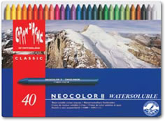 Caran D'ache Neocolor II Watersoluble Wax Pastels Tin of 40