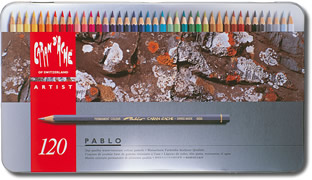 Caran D'Ache Pablo Water Resistant Coloured Pencils Tin of 120
