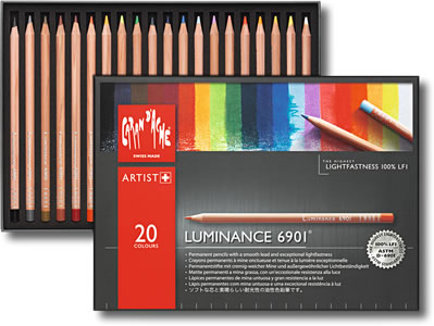Caran D'Ache Luminance 6901 Permanent Colour Pencil Tin of 20