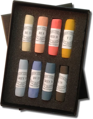 Unison Colour Hand Made Soft Pastels - Landscape Set of 8