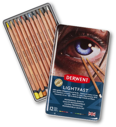 Derwent Lightfast Pencils Tin of 12