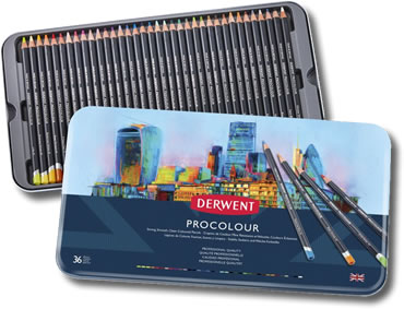 Derwent Procolour Pencils - Tin of 36