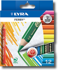 Lyra Ferby Box of 12 - Coloured barrel