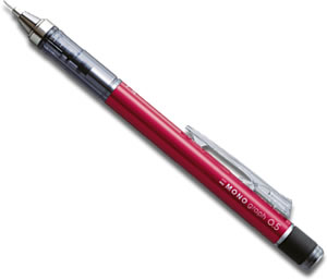 Tombow Monograph 0.5mm Propelling Pencil - Red Barrel