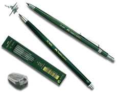 3B Tk Clutch Pencil Leads Faber-Castell Tube of 10 Leads 2Mm