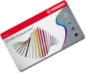 Stabilo Aquacolor Watercolor Pencils Tin of 36
