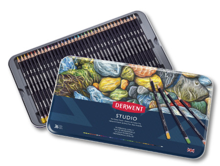 Derwent Studio Colour Pencils Tin of 36