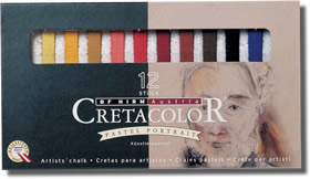 Cretacolor Pastel Carres Set of 12 Portrait