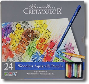 Cretacolor Aquamonolith Pencils Tin of 24