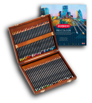 Derwent Procolour Pencils - Wooden Box of 48