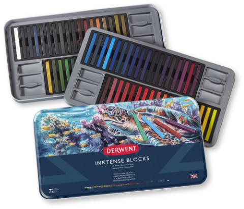 Derwent Inktense Blocks Tin of 72