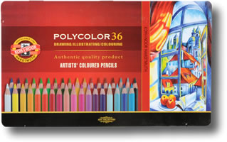 Koh I Noor 3800  Polycolor Colour Pencils Tin of 36