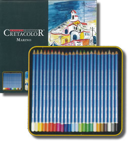 Cretacolor Marino Fine Art Watercolor Pencils Tin of 24
