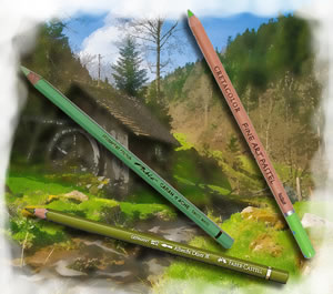 Pencils4artists Colour Compare Set of 12 Greens