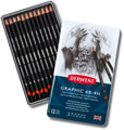 Derwent Graphic Pencils Tin of 12 Medium Grades