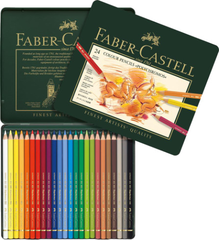 Faber Castell Polychromos Colour Pencils Tin 24