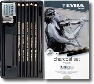 Lyra Charcoal Set - Tin 11 - L2041112