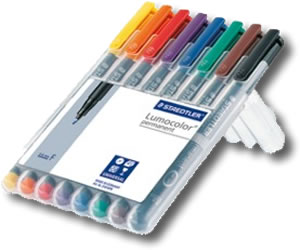 STAEDTLER LUMOCOLOR Permanent Pens Fine 0.6mm Nib Red