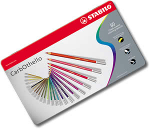 Stabilo Carbothello Chalk Pastel Pencils tin of 60