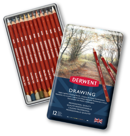 Derwent Drawing Pencils Tin 12