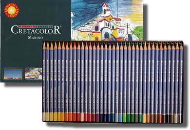 Cretacolor Marino Fine Art Watercolor Pencils Tin of 36