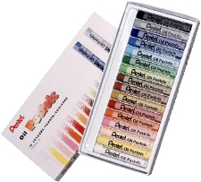 Pentel Oil Pastels Box of 16