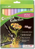 Tombow ABT Dual Brush Pen Set of 12 Pastel Colours