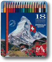 Caran D'Ache Prismalo Watersoluble Colour Pencils Tin of 18