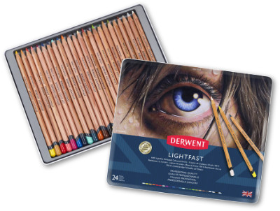 Derwent Lightfast Pencils Tin of 24