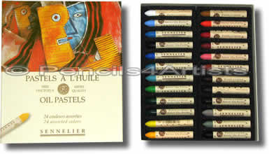 Sennelier Oil Pastels - Box 24 Assorted Colours