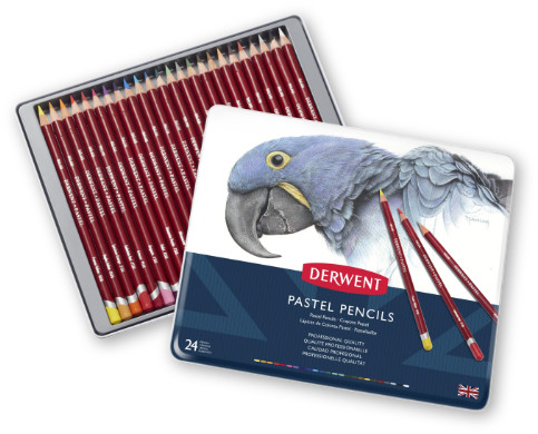Derwent Pastel Pencils Tin of 24