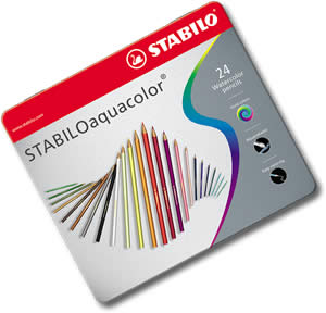 Stabilo Aquacolor Watercolor Pencils Tin of 24