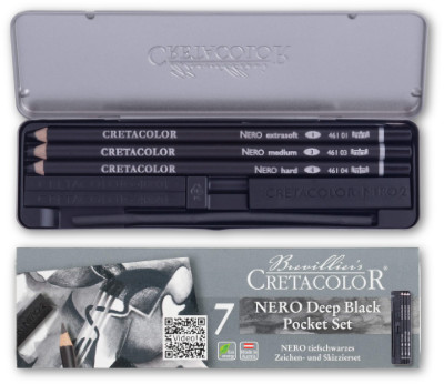 Cretacolor Nero Deep Black Pocket Set
