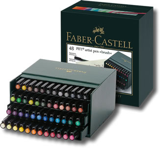 Faber Castell Pitt Artist Brush Pen - Gift Box 48
