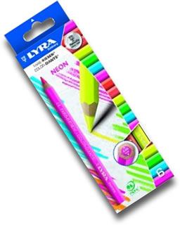 Lyra Color Giants Box of 6 Neon Colours - Coloured Barrel