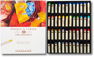 Sennelier Oil Pastels - Box 48 Assorted Colours